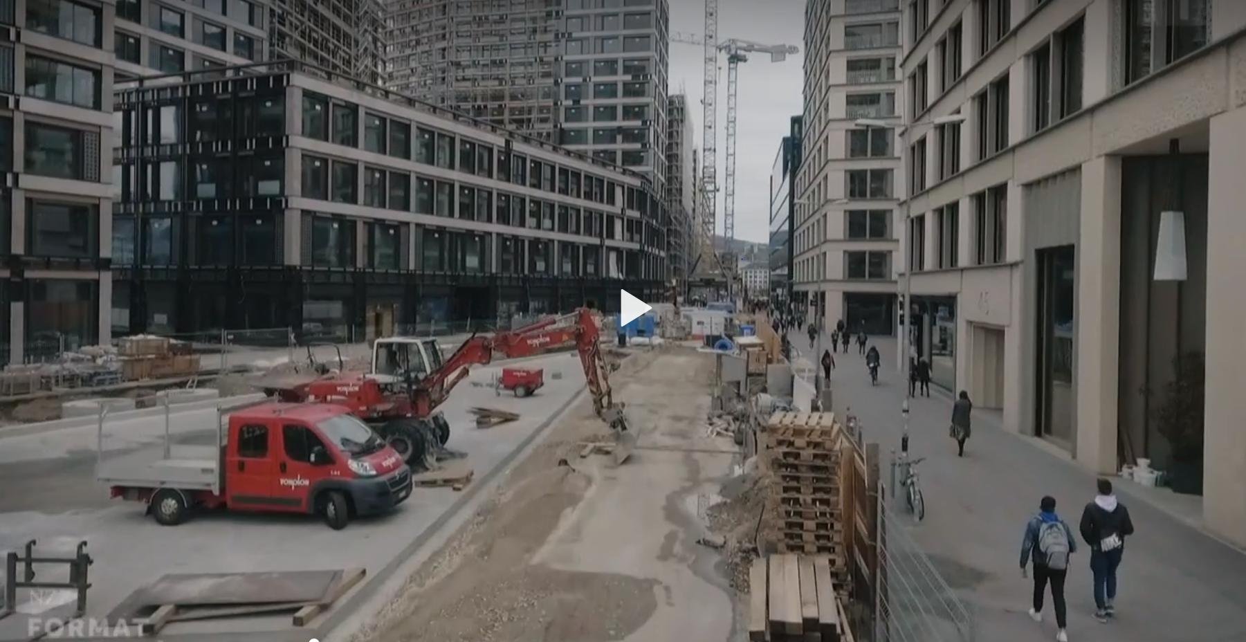 Baustelle Vonplon Strassenbau AG Europaallee Zürich